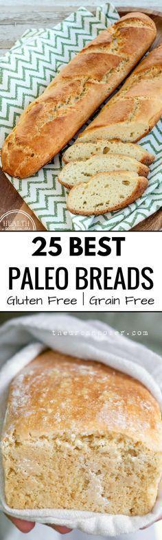 Best Grain free bread recipes! Paleo french bread. Easy to make sandwich bread. Delicious healthy bread recipes that are easy to make! Healthy Bread Recipes, Paleo Bread, Dairy Free Recipes, Low Carb Recipes, Real Food Recipes, Healthy Menu, Paleo Snack, Paleo Baking, Paleo Breakfast