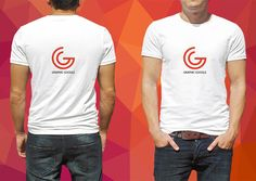 awesome Front and back male T-Shirt Mockup