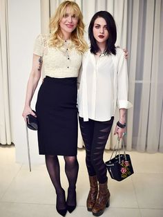 Frances Bean Cobain and Mom Courtney Love Coordinate in Rare Appearance