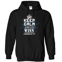 Keep Calm and Let WINN Handle It - #gift for girls #photo gift. ADD TO CART => https://www.sunfrog.com/Names/10-12-Keep-Calm-and-Let-WINN-Handle-It-swnkrwekoo-Black-9737090-Hoodie.html?68278