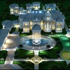 30 The DIY Dream House Mansions - Villa - Dream houses Dream Home Design, Modern House Design, My Dream Home, Mansion Homes, Dream Mansion, Villa Plan, Mega Mansions, Cool Mansions, Victorian Houses