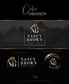 Realtor logo, Real Estate logo design, Branding kit, Gold realty branding, Real estate agent marketing stamp House logo, Broker design 438
