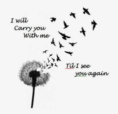 love this song and tattoo idea, especially for my grandma with her birthdate and death date. til i see you again