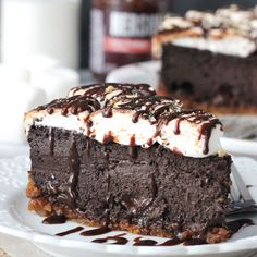 No need to host a bonfire when you've got this graham cracker crust chocolate cheesecake topped with toasted marshmallows and chocolate sauce. Get the recipe from Life, Love & Sugar.   - Delish.com