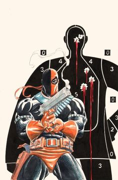 Deathstroke - classic take on Punisher cover.