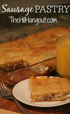 Sausage Pastry from TheHillHangout.com is delicious enough to share at a party, but easy enough for a weekday breakfast!