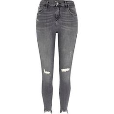 Ripped Super Skinny Jeans from River Island R840,00