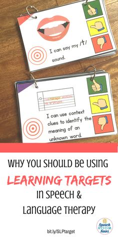 Why you should be using learning targets in speech and language therapy. From…