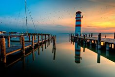 This is the only Beacon in Austria. It is situated at Lake Neusiedl which is a natural preserve for migratory birds that land in this region on their journey from/ to Africa.