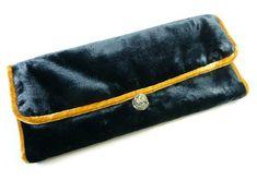 Jewellery Roll - Navy Velvet Fair Trade Jewelry, Jewelry Roll, Grey And White, Continental Wallet, Indigo, Rolls, Navy Blue, Velvet, Jewellery