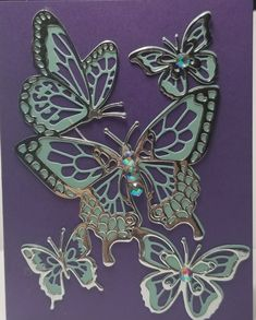 I have been having a great time with Stampin' Up's Beautiful Butterfly Thinlits from the new Occasions catalog. Paper Butterflies, Butterfly Cards, Beautiful Butterflies, Owl Card, Bee Cards, Die Cut Cards, Card Sketches, Cute Crafts, Card Tags