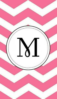 Chevrons with circled letter M Flower Wallpaper, Cool Wallpaper, Pattern Wallpaper, Wallpaper Quotes, Wallpaper Backgrounds, Monogram Alphabet, Monogram Fonts, Cellphone Wallpaper, Iphone Wallpaper