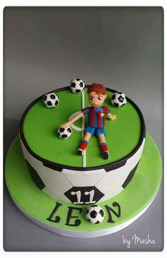 Soccer cake for boys