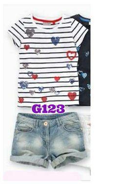 Guess heart strip girlset (G123) || size 1-6 || IDR 125.000