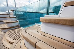 Bradford Spa on board the Aquila. Pendennis comments on refit of 85.6m Aquila | SuperYacht Times