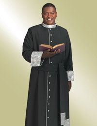 2e55354c493 button down cassock in black with brocade Specializing in men s clergy  apparel including clergy shirts