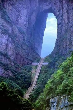 Heaven's Gate, China Welcome To Zhangjiajie City, China. About from downtown of Zhangjiajie lies the Tianmen Mountain, also known as Heaven Gate Mountain. Zhangjiajie, Dream Vacations, Vacation Spots, Places To Travel, Places To See, Places Around The World, Around The Worlds, Tianmen Mountain, Magic Places