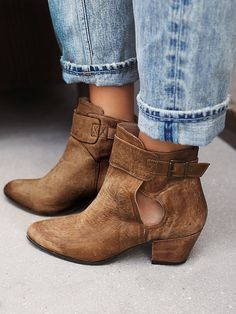 Belleville Ankle Boot | Suede ankle boots featuring subtle distressing for a vintage-inspired feel. Small cutouts at the ankle and adjustable strap for an easy on/off.