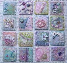 Fabric Inchies | pastel fabric inchies | Inchies Ideas