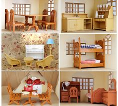 Dollhouse Miniature Kitchen Living Room Bedroom Furniture For Sylvanian Families #GenericBrand