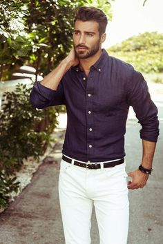 10 Blue and White Looks Men Should Copy #Fashion