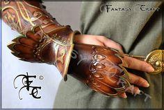 Leather bracer by I-TAVARON-I.deviantart.com on @deviantART