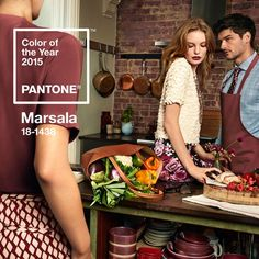 """PANTONE has unveiled its 2015 Color of the Year: PANTONE Marsala. Described as a """"naturally robust and earthy red"""", the rich. Pantone 2015, Marsala Pantone, Pantone Color, Color Trends, Design Trends, 2015 Trends, Color Of The Year, Color Pallets, Color Inspiration"""