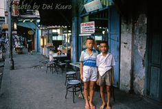 Street life of Bangkok, Thailand in 1984.