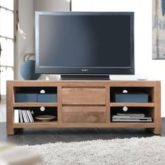 Eden Teak TV Stand 140. Discover Tikamoon's original furniture at www.tikamoon.co.uk !