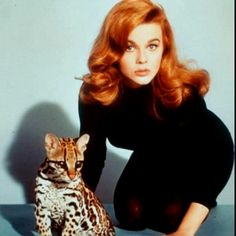 Really want to go Ann Margaret red.....wouldn't mind the cute little leopard cub either!