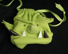 TUSSK the ORC Dice Bag / Wristlet Purse / Gadget Case Drawstring Pouch for DnD Magic the Gathering Warcraft Warhammer Nerds For the HORDE. $29.00, via Etsy.