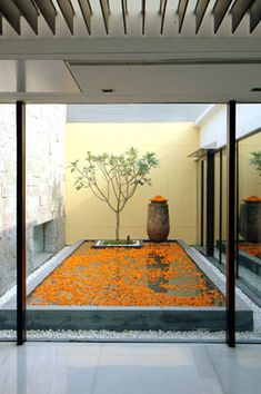 A modern Indian take on marigold petals and water. Beautiful