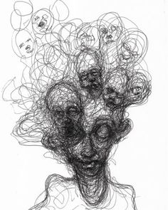 Drawings by Adam Riches? Dark Art Drawings, Art Drawings Sketches, Arte Horror, Horror Art, Arte Grunge, Arte Indie, Scribble Art, Posca Art, Creepy Art