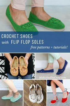 d85ce456443 flip flops Archives - Make   Do Crew. Crochet Shoes PatternShoe ...