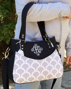 Monogrammed, Concealed Carry Purse, Cross Body Bag, Shoulder Bag, Purse, Handbag, Custom Order