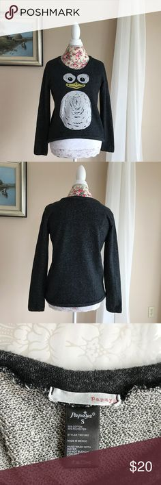 Penguin French Terry Top This top is too cute for words!  It is cut a bit higher in front and longer in back.  The material is a cozy French terry fabric.  Very good used condition. Papaya Tops Sweatshirts & Hoodies