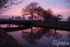 Zonsondergang aan de Hoevenallee (Terwolde)  http://blog.qdraw.nl/twello-en-omgeving/zonsondergang-aan-de-hoevenallee-terwolde/