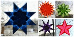 Matariki stained glass window stars
