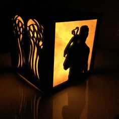 Daryl Dixon The Walking Dead light box  4.5 by BurntPixels on Etsy