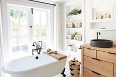 Rustic modern farmhouse bathroom in small cottage by Trinette Reed - Bathroom, Architecture - Stocksy United Rustic Bathroom Vanities, Rustic Bathroom Decor, Modern Farmhouse Bathroom, Bathroom Ideas, Bathroom Pics, Bathroom Inspiration, Cottage Bathrooms, Bathroom Makeovers, Interior Inspiration
