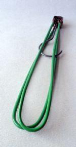 #FollowVintage Vintage Folding Coat Hanger Circa 1950s Green Coathanger with Belt Hook Travel Office Holiday Plastic Covered