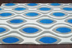 Keno ACR201 Blue Rug | Contemporary Rugs #RugsUSA