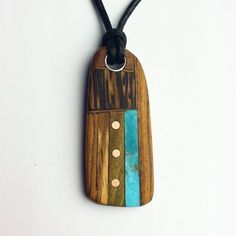 Solid turquoise stone inlay by burgewood on Etsy, $73.00