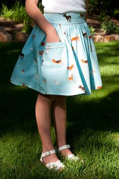 Puppy Skirt with Piped Pocket (Tutorial)