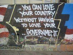 Anti-government graffiti