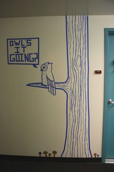 DIY painter's tape wall art. We were only allowed to use painter's tape on the walls in my dorm, so I made this one evening.  #tape #wall