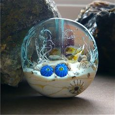 Etsy の Ocean Bead Coral Reef Glass Bead Handmade by MitosisGlass