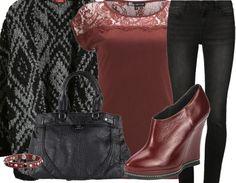 Feestelijke Outfits - ♥ Bordeaux rood ♥ Perfect voor in de herfst!