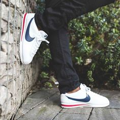 One of Nike's most iconic silhouettes, the Nike Cortez Leather Trainer.