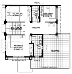 To enumerate, the key features of two story house design with roof deck are: inviting front porch filled with plenty of natural air and light open and free flowing Two Story House Design, Single Floor House Design, 2 Storey House Design, Small House Floor Plans, My House Plans, House Layout Plans, House Layouts, Contemporary House Plans, Modern House Plans